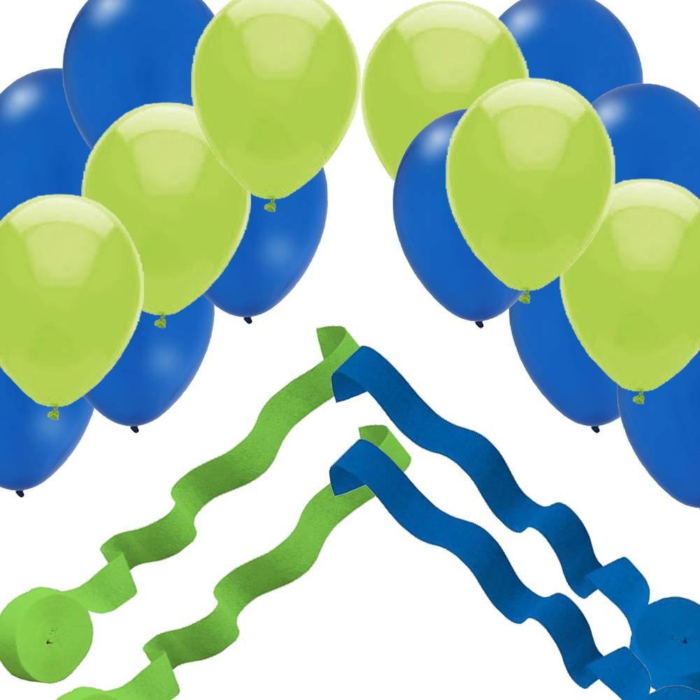 Seattle Seahawks Super Bowl Party Decorations 24 Balloons 4 Streamer