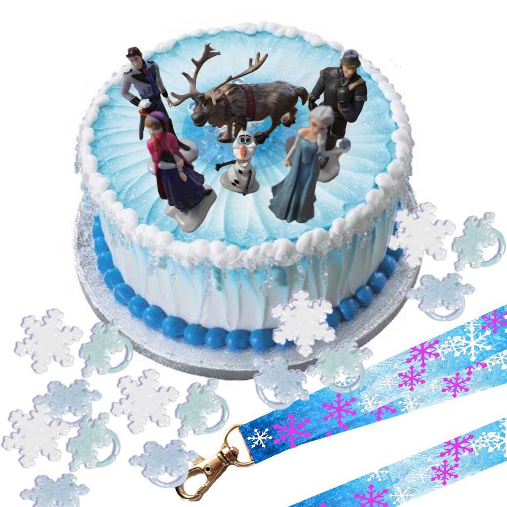 Disney Frozen Cake Topper Set & Cupcake Rings & Party ...