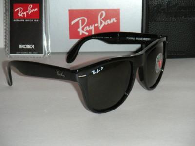 00fd113806f ray ban folding wayfarer rb4105 601 58 black polarized gray 54mm sunglasses