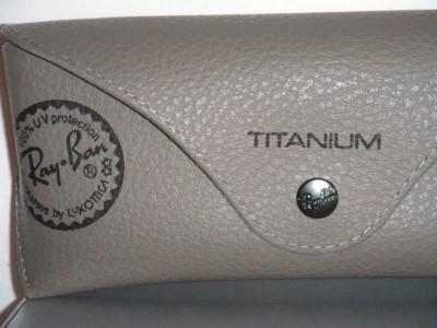 f6612e838a RAY BAN AVIATOR TITANIUM GOLD POLARIZED BROWN GRADIENT RB8041 001 M2 ...