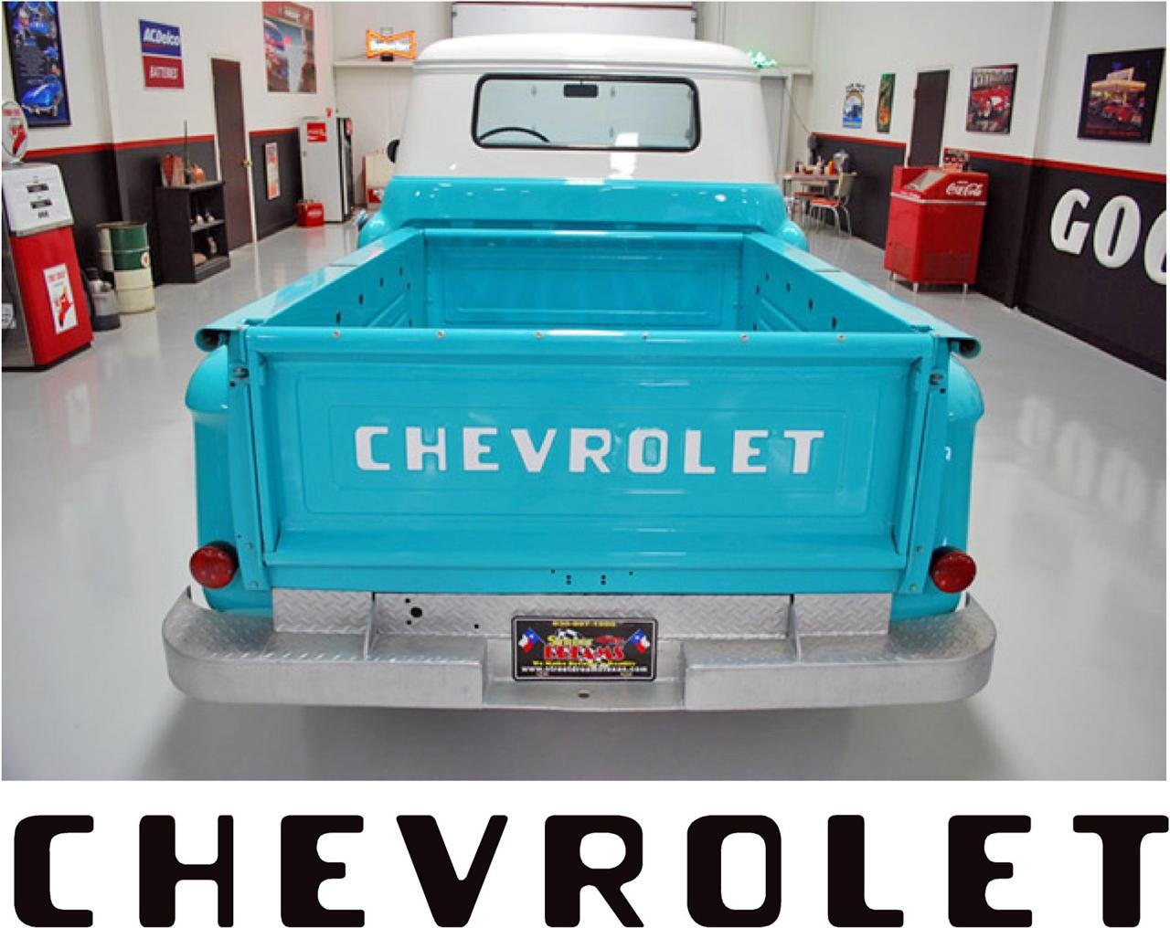1955 87 Stepside Chevy Chevrolet Pickup Truck Tailgate Letters Decals Stickers