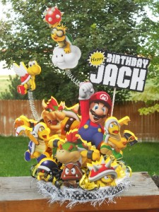 Super Mario Bros Brothers Cake Topper Birthday Party