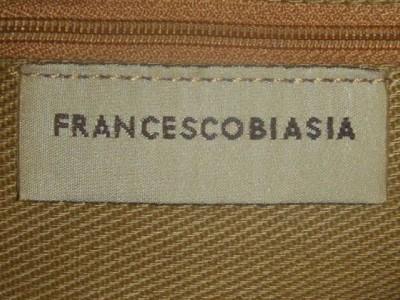 FRANCESCO BIASIA LARGE SMOOTH BLACK LEATHER PURSE/SHOULDERBAG