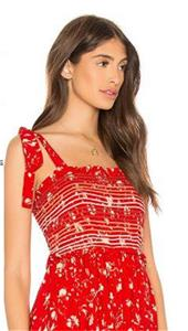 f85f02f26163 Details about (NWOT FREE PEOPLE COLOR MY WORLD RED FLORAL JUMPSUIT sz M)