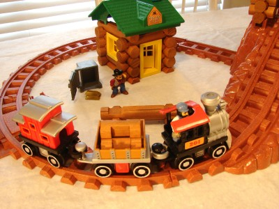 Lincoln Logs Frontier Express Complete Set W Train Orig