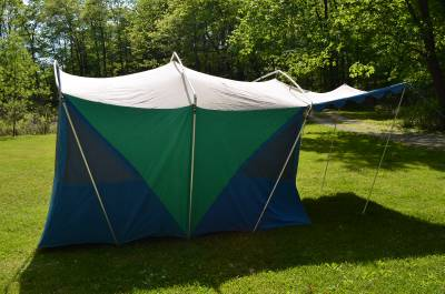Vintage Canvas Camping Tent Ted Williams Edition By Sears