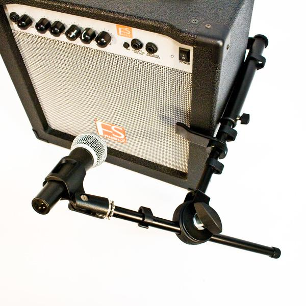 guitar amp microphone clamp with boom ebay. Black Bedroom Furniture Sets. Home Design Ideas