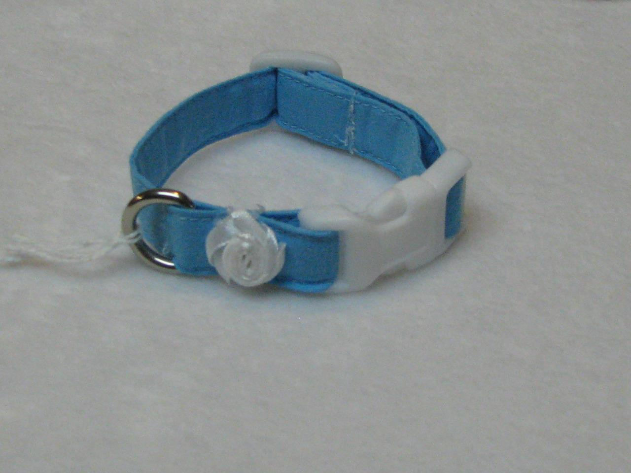 shih tzu collar summer blue pet accessories xxs dog collars maltese shih 8178