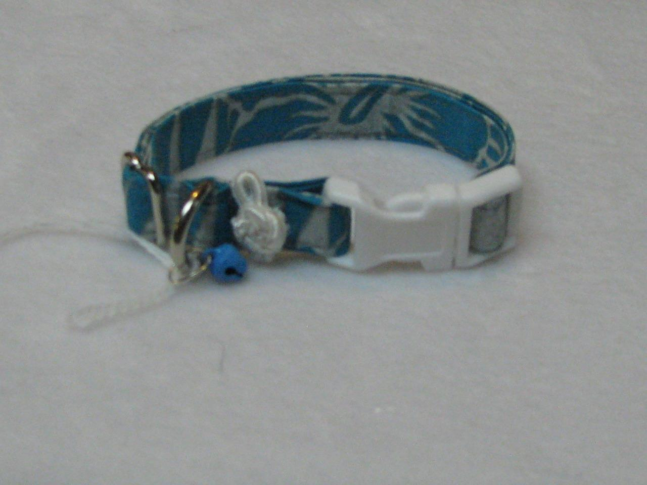 shih tzu collar silver with blue pet accessories xxs m dog collars maltese 6443