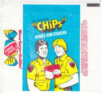 TOPPS CHIPS TRADING CARD WRAPPER