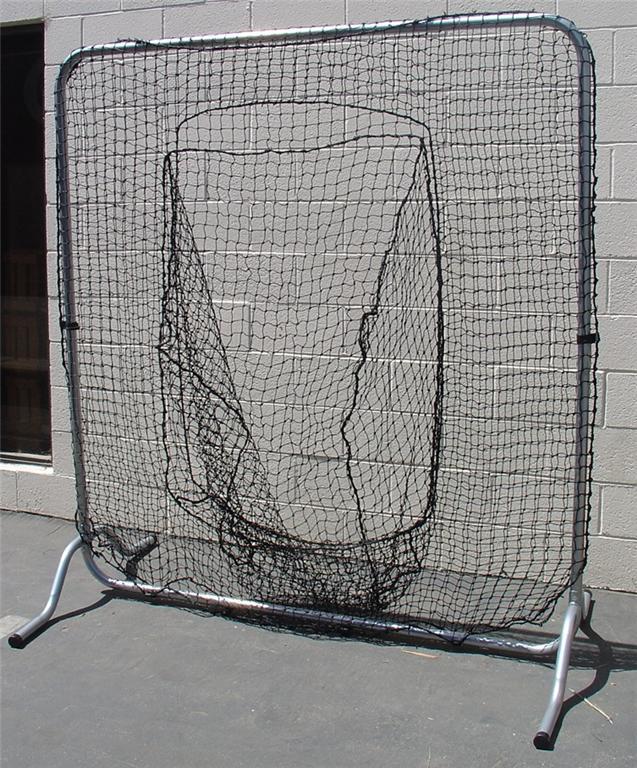 Baseball Softball Batting Cage Net Trapezoid Frame Corner