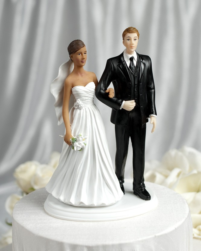 Cake interracial topper