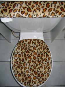Leopard Print Faux Fur Fabric Toilet Seat Cover Set Ebay