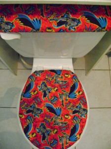 Dc Comic Super Hero Batman Fabric Toilet Seat Cover Set