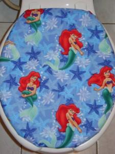 Disney Ariel Little Mermaid Amp Starfish Blue Toilet Seat