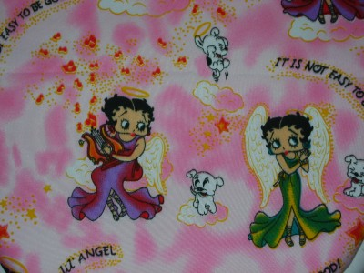 Betty Boop Quot Angel On Pink Polyester Fabric Toilet Seat