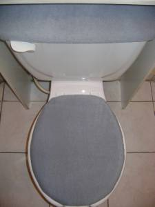 Solid Gray Fleece Fabric Toilet Seat Lid Amp Tank Cover