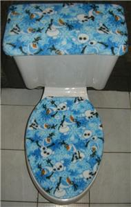 Disney Frozen Olaf Fleece Fabric Elongated Toilet Seat