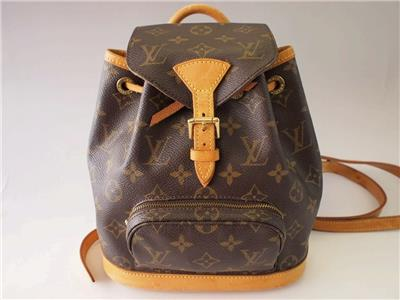 100 Authentic Mini Louis Vuitton Made In France Has No Date >> AUTHENTIC LOUIS VUITTON MINI MONTSOURIS PETIT BACKPACK BAG