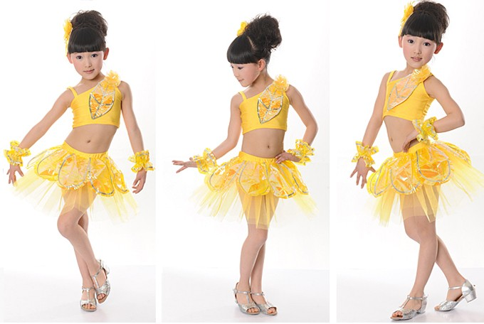 New Girls Latin Ballet Costume Dance Dress Set 6 13Y Performance Clothes DS008