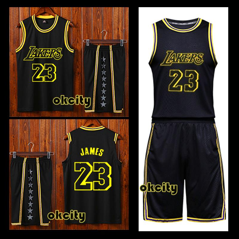wholesale dealer e2613 ffecd Details about 23 LeBron James Los Angeles Lakers LA Adult Child Men Baby  Jersey Outfit Kit