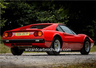 "OLD FERRARI 308 A3 CANVAS PRINT POSTER 16.5""x11.1"""