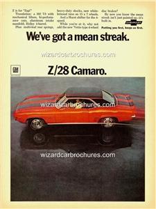 What Does Camaro Mean >> 1969 CHEVROLET CHEV CAMARO Z/28 A3 POSTER AD ADVERT ADVERTISEMENT SALES BROCHURE | eBay
