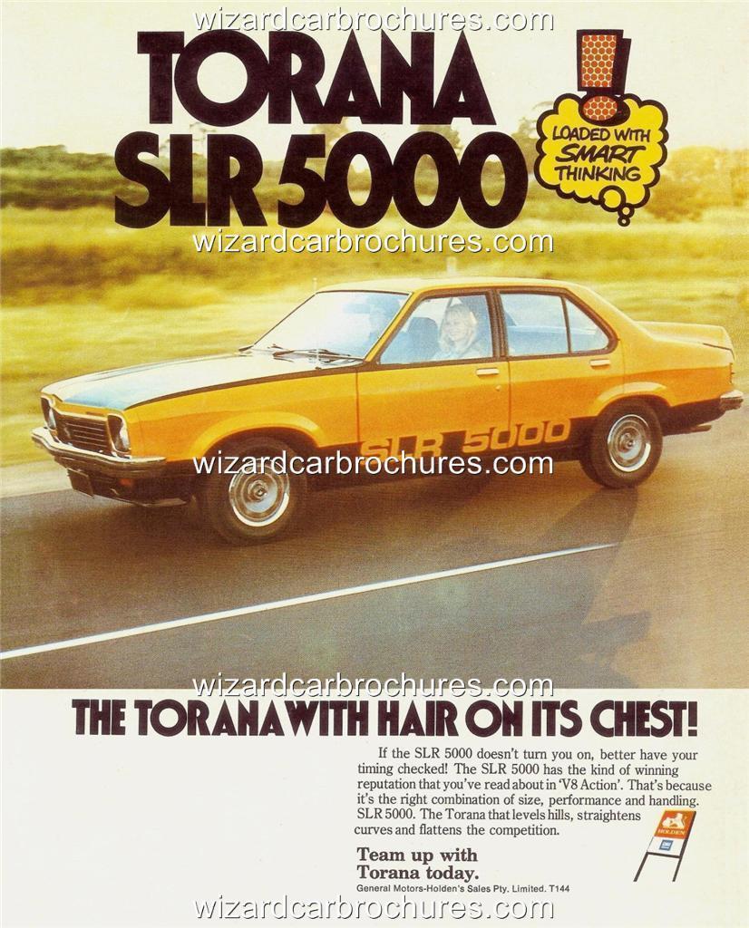 1976 Holden LX Torana SLR 5000 A3 Poster Ad Sales Brochure