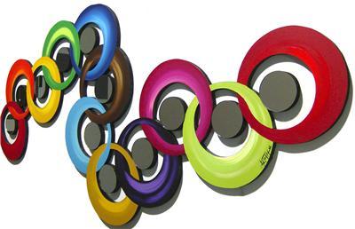 Beautiful Modern Circle Abstract Wall Sculpture Circle