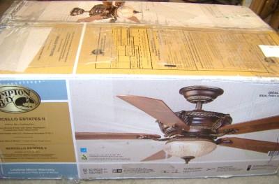 Hampton Bay Bercello Estates Ii Ceiling Fan New As Is