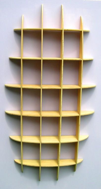 Dvd Cd Storage Rack Wall Mounted Unit Retro Style