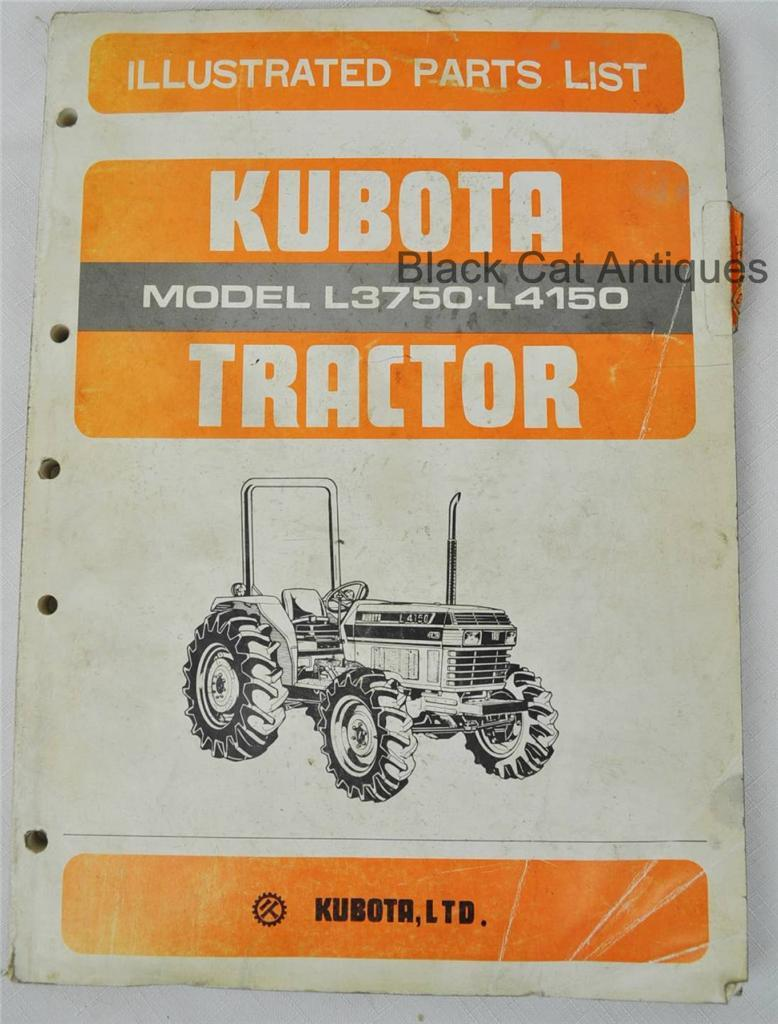 Image is loading 1984-KUBOTA-ILLUSTRATED-PARTS-LIST-L3750-amp-L4150-