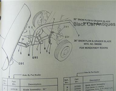 Original Simplicity Wonder Boy Riding Mower Attachments