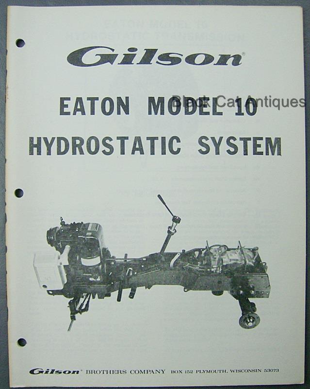 Repair Manual Eaton Hydrostatic drives