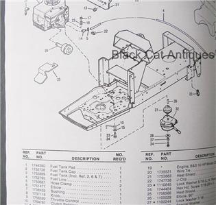 original 1989 bolens suburban tractor parts list model. Black Bedroom Furniture Sets. Home Design Ideas