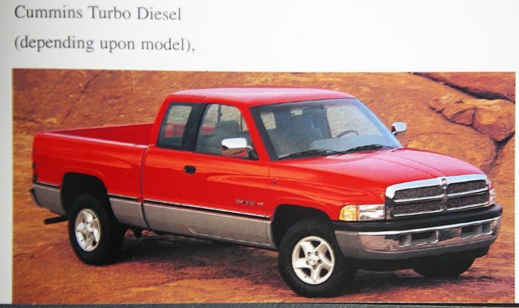Details about Original 1996 Dodge Ram Dealer Brochure Ram 2500/HD, 3500,  Power Ram 3500/DRW
