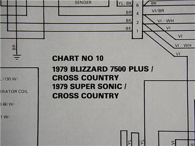 Details about 1979 Ski-Doo Blizzard 7500+ Cross Country SS/CC Electrical on honda rancher 350 schematics, husqvarna schematics, computer schematics, arctic cat snowmobile schematics, suzuki schematics,