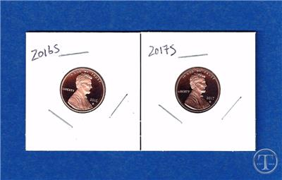 2014-S 2016-S 2013-S 2015-S 2017-S  /&  2018-S PROOF LINCOLN CENTS 6 COINS