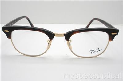 f493e9e966 Ray Ban 5154 2372 49 Clubmaster Havana Eyeglass Frame New 100% on ...