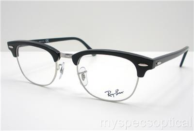70f2947cf9 Ray Ban RB 5154 2000 49 Clubmaster Black Eyeglass Frame New 100% Authentic