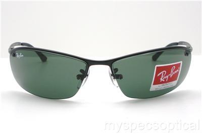 fe58a56ecd Ray Ban RB 3183 006 71 63mm Matte Black Green Sunglasses New ...