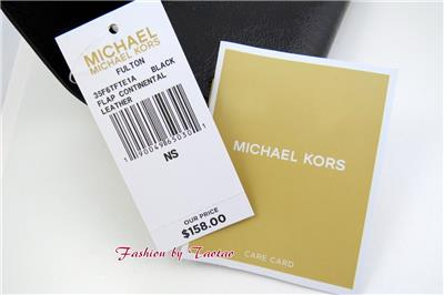 2f1c9a002ea5 New w Tag Michael Kors FULTON Flap Continental Patent Leather Wallet ...