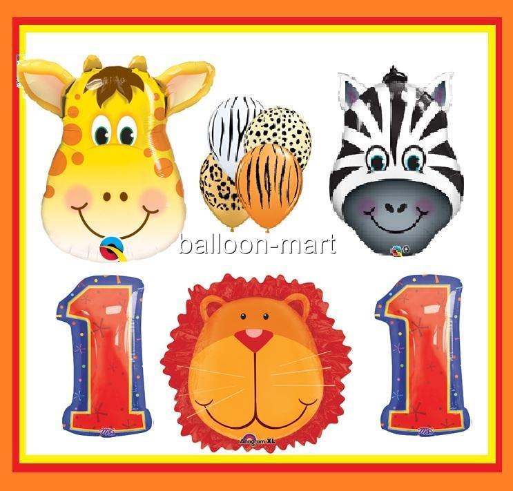 Jungle Safari Animals Party Supplies Balloons Giraffe Zebra Baby Shower Birthday