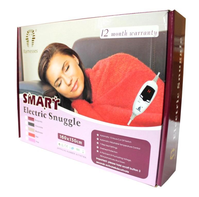 New Pink Electric Snuggle Blanket Heated Throw Rug Ebay