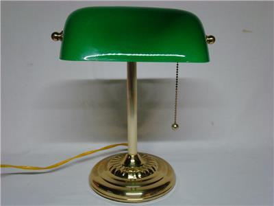 Brass emerald green glass shade bankers desk lamp piano brass emerald green glass shade bankers desk lamp piano students aloadofball Gallery
