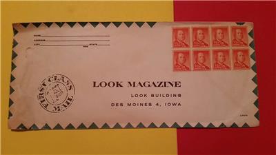 Rare Vintage Eight 1 2 Cent Ben Franklin Us Stamps Unmarked On Look Magazine Env Ebay