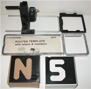 Craftsman router template set to rout upper case block for Router alphabet templates
