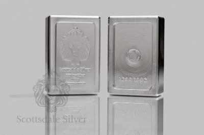 1 Kilo Scottsdale Stacker 174 Silver Bar 999 Silver Bullion