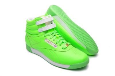 f7715e6c450 Reebok Womens shoes Freestyle HI 32 953314 Neon Green on PopScreen