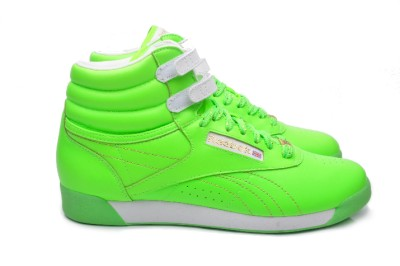 Reebok Women s Shoes Freestyle Hi 32 953314 Neon Green on PopScreen cce63879c